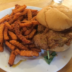 Whole Foods Fried Chicken Sandwich and Fries